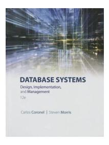 Database Systems: Design, Implementation, & Management, 12/Ed